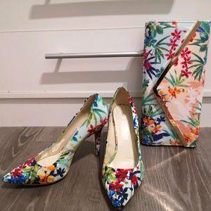 Floral Aldo heels
